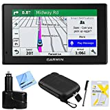 Garmin DriveSmart 51 NA LMT-S Advanced Navigation (010-01680-02) With Smart Features w/Accessories Bundle Includes, Dual 12V Car Charger for GPS, Screen Protectors, Protect & Stow Case Mini + More
