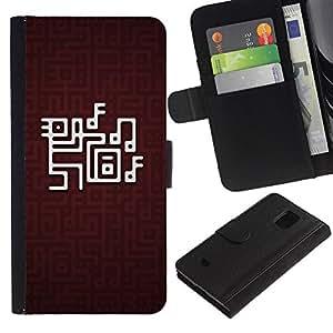 All Phone Most Case / Oferta Especial Cáscara Funda de cuero Monedero Cubierta de proteccion Caso / Wallet Case for Samsung Galaxy S5 Mini, SM-G800 // Labyrinth Music Computer Game Note Art