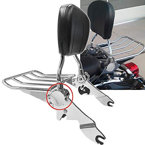 BBUT Chrome Adjustable Backrest Sissy Bar with Luggage Rack For Harley Davidson Touring 2009-2019 Electra Glide Road Glide Road King Street Glide FLHT FLHX FLHR FLTR