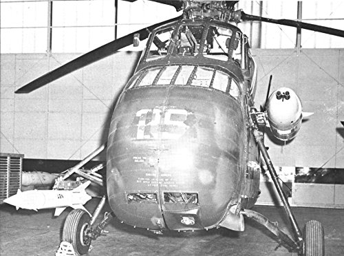 Home Comforts USMC Experimental CH-34 Helicopter Armed The Navy's Bullpup Missile Mounted on one Side a t