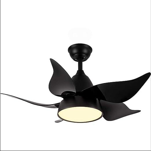 TangMengYun Hogar Ventilador Techo Moderno LED de 42 Pulgadas Ventiladores de Techo con Luces Dormitorio Ventilador de Techo Infantil Ventilador Lámpara Ventilador De Techo (Color : Black): Amazon.es: Hogar