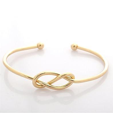e4e925d5d8a Classic Delicate Bracelet for Lover Love Knot Cuff Bracelet Open Charm  Bangle Stretch Bracelet Statement Metal Bangle Jewelry: Amazon.co.uk:  Jewellery