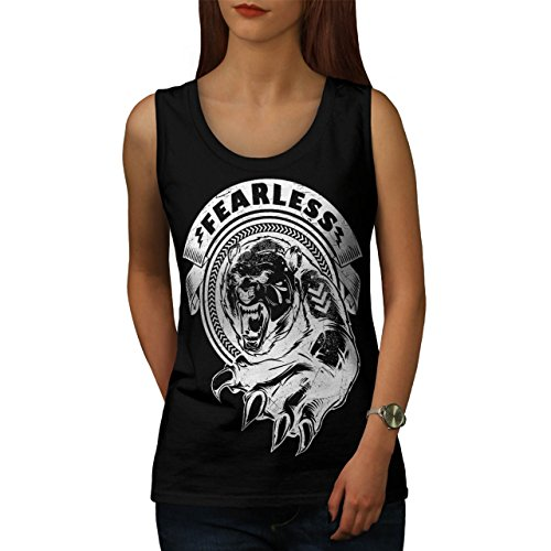 [Fearless Wild Animal Tiger Bear Women NEW S Tank Top | Wellcoda] (Bear Jew Costume)