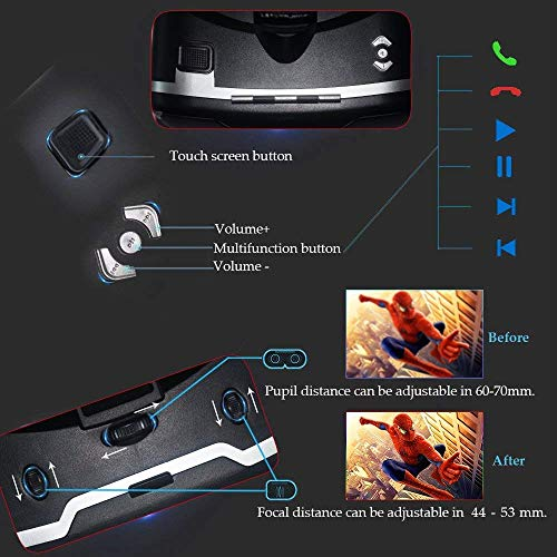 Vr Shinecon 3d Virtual Reality Glasses Headset For Tv Amazon In Electronics