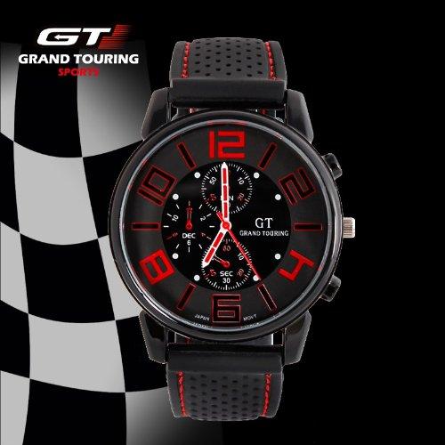 GT Grand Touring para Hombre Racer Reloj Deportes reloj de cuarzo correa de silicona reloj Militar
