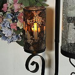 GiveU Crack Mosaic Glass Flameless Brown Pillar Le