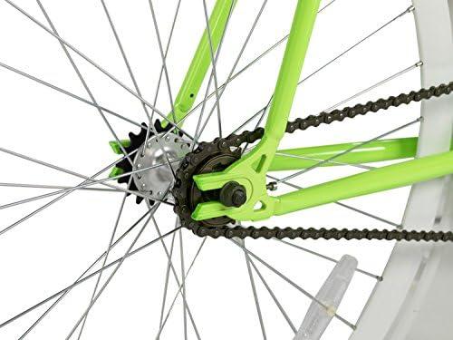 Rocasanto Bike - Bicicleta fixie v, tamaño 51, color verde/blanco ...