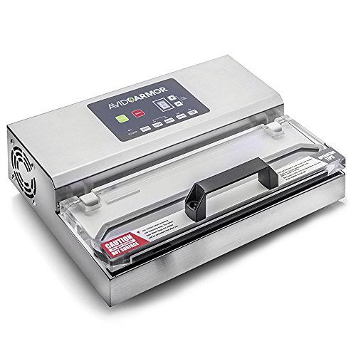 (Avid Armor Vacuum Sealer Machine - A100 Stainless Construction, Clear Lid, Commercial Double Piston Pump Heavy Duty 12