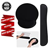Wrist Rest Pad for Keyboard Mouse Wrist Cushion Support Memory Foam Wrist Rest Set for Working and Gaming Office Computer PC Laptop Easy Typingand Wrist Pain Relief (1 Pack)