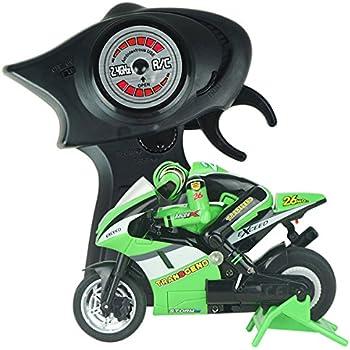Kids Galaxy Kawasaki Ninja Remote Control Cycle Green And Black