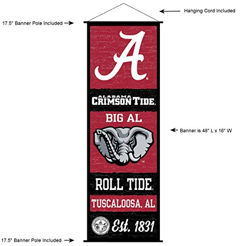 Alabama Crimson Tide Banner and Scroll Sign ()