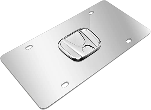 Honda 3D Logo Chrome Steel License Plate X-HON-P-CC Au-Tomotive Gold INC