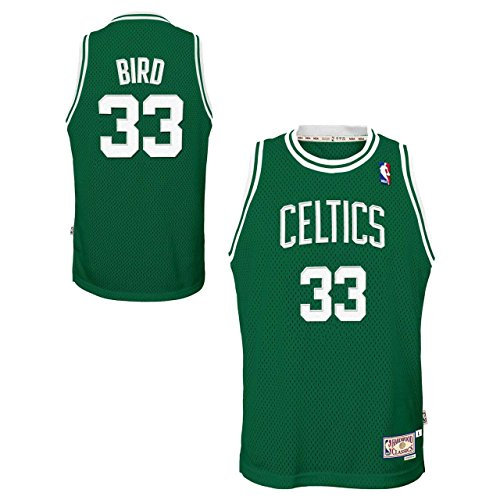 Green Swingman Basketball Jersey - Genuine Stuff Boston Celtics Youth Larry Bird NBA Soul Swingman Jersey - Green #33, Youth Large