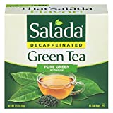 Salada Decaffeinated Green Tea, 40-Count Boxes (Pack of 6)