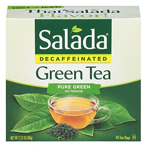 (Salada Decaffeinated Green Tea, 40-Count Boxes (Pack of 6))
