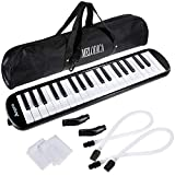 Anpro 37 Key Melodica Instrument/Harmonica Instrument Air Piano Keyboard with 2 Mouthpieces Musical Instrument and Carrying Bag for Teaching and Playing Christmas Gift for Kids(37 KEY)