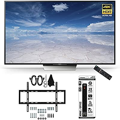 Sony XBR-65X850D 65-Inch Class 4K HDR Ultra HD TV Accessory Bundle includes TV, Ultimate Mount Kit and Power Strip with Dual USB Ports