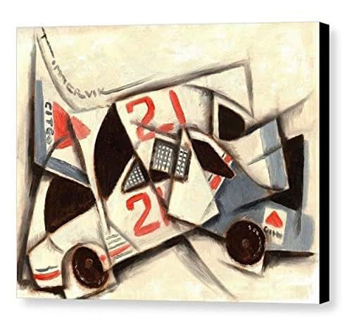 Amazon.com: Tommervik Cubism Racing Car Art Print Race Car