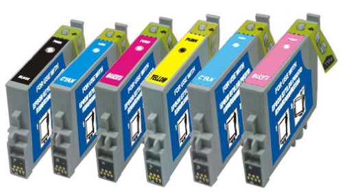 Remanufactured Epson T048 Ink Cartridge Bundle (T0481 / T0482 / T0483 / T0484 / T0485 / T0486), Office Central