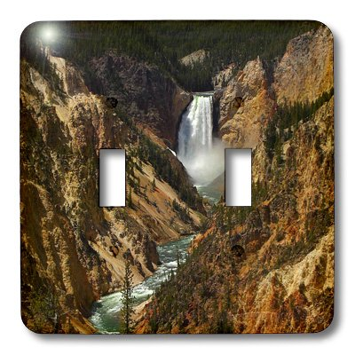 Lower Falls Yellowstone National Park (lsp_17296_2 Sandy Mertens Wyoming State - Lower Falls Yellowstone National Park - Light Switch Covers - double toggle switch)