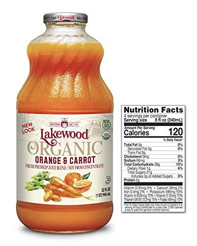 - Lakewood Organic Orange Carrot Juice, 32-Ounce Bottles (Pack of 6)