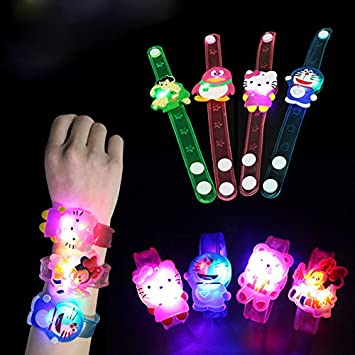 Jiada Cartoon Characters LED Light Bracelets Birthday Return Gifts For Kids Set Of 12 Amazonin Toys Games