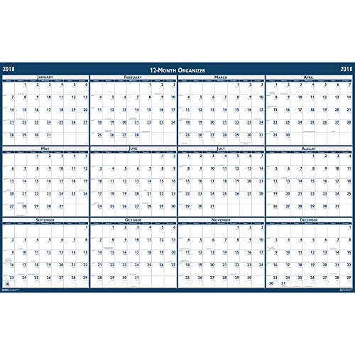 House of Doolittle 2018 Laminated Wall Calendar, Reversible, Horizontal/Vertical, 66 x 33 Inches, January - December (HOD3962-18) Photo #2