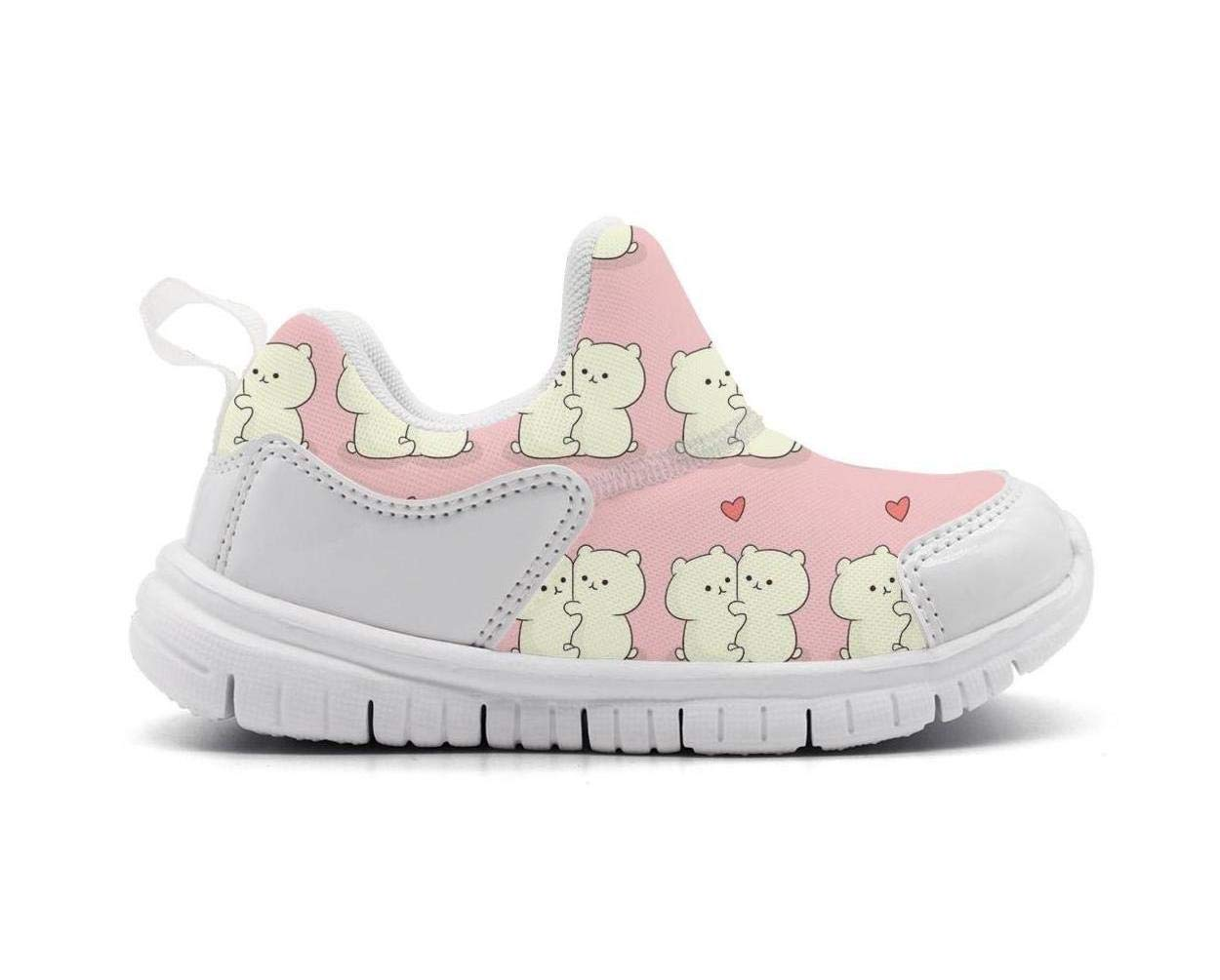 ONEYUAN Children Love Cute Baby Bear Kid Casual Lightweight Sport Shoes Sneakers Walking Athletic Shoes