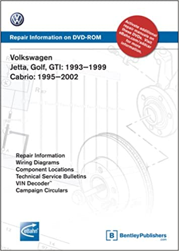 volkswagen jetta, golf, gti: 1993, 1994, 1995, 1996, 1997, 1998, 1999:  repair manual on dvd-rom (windows 2000/xp): volkswagen of america:  9780837612638:
