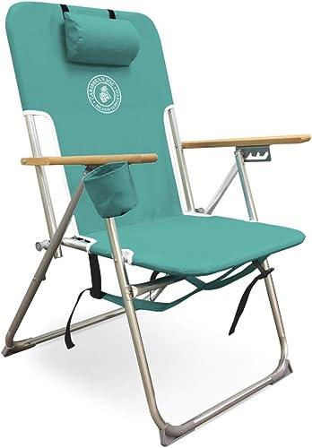 Caribbean Joe Five Position high Weight Folding Beach Chair,
