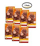PACK OF 7 - Creme of Nature Exotic Shine Color 7.64 Bronze Copper Permanent Hair Color, 1 application