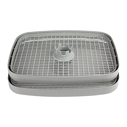 CHARD 5DST-2 Food Dehydrator Tray, Gray - Set of 2 Rotating Food Dehydrator