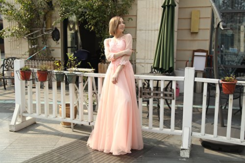 langes Party A brautjungfer Damen Ballkleid marino kleid Tuell Abendkleid Linie Prinzessin Vickyben Cocktail Schnuerung azul Aqp4UAw
