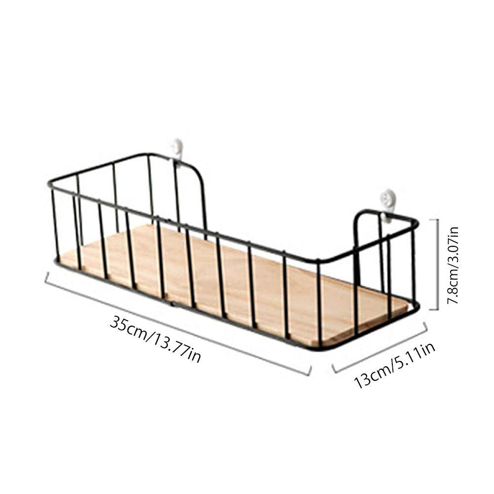 /étag/ères flottantes mur mont/é livre en bois d/écoratif suspendus affichage organisateur titulaire de fil de fer pour la d/écoration stand cuisine salle de bains chambre salon d/écor fournitures en m/étal