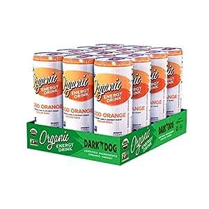 DARK DOG ORGANIC Blood Orange Energy Drink, 12 Ounce (Pack of 12)