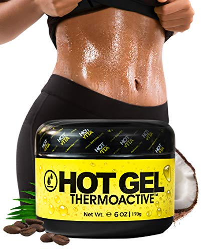 Fat Burning Gel - Hot Vita Thermo Active Hot Sweat Gel - Slimming Enhancer Workout Coconut Body Cream (6 Ounce)