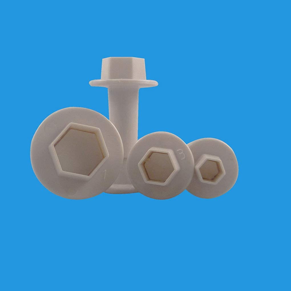 PRENKIN 4pcs de Forma Hexagonal Troqueles de Corte de pl/ástico Galletas Primavera pasteler/ía Corte geom/étrico hornada de la Torta Utensilios Moldes Moldes