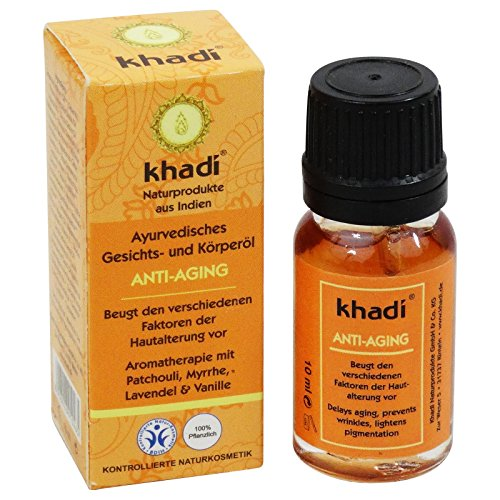 Khadi - Herbal Anti-Aging Body & Face Oil - 0.35 fl.oz - Suitable for Dry & Rough Skin - Contains antioxidants - Supports Skin Regeneration