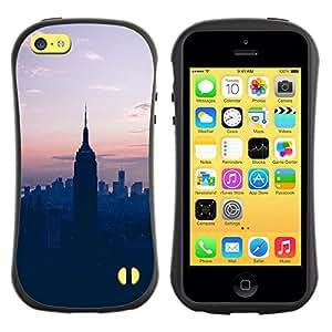 Suave TPU GEL Carcasa Funda Silicona Blando Estuche Caso de protección (para) Apple Iphone 5C / CECELL Phone case / / State Sunset Blue Nyc New York /