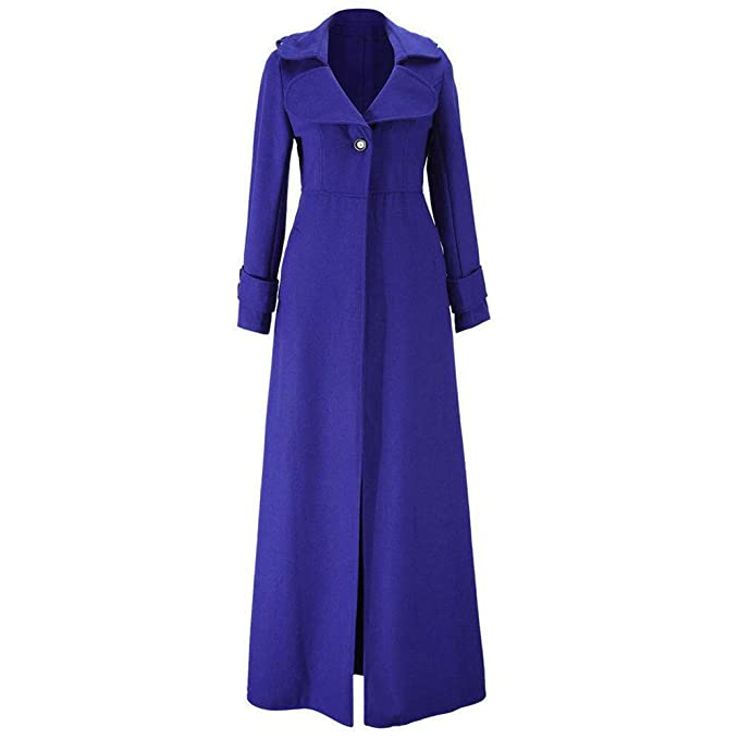 Vintage Coats & Jackets | Retro Coats and Jackets NREALY Jacket Womens Winter Lapel Slim Coat Trench Jacket Long Parka Overcoat Outwear $38.50 AT vintagedancer.com