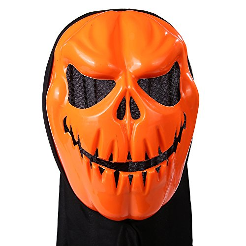 Mask for Halloween - 2017 Newest Design Costume Party Props Electroplate Pumpkin Head Mask with Head Cover for Adults and (99 Problems Halloween Costume)