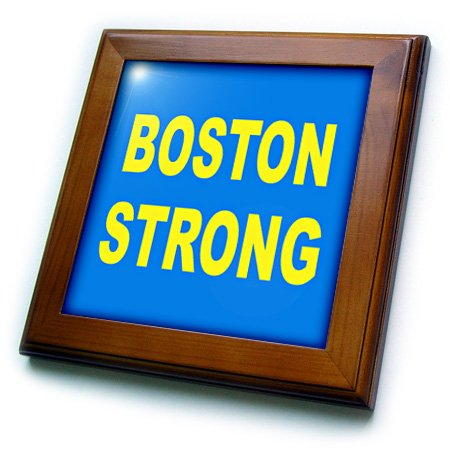 3dRose ft_113689_1 Boston Strong Framed Tile, 8 by 8""