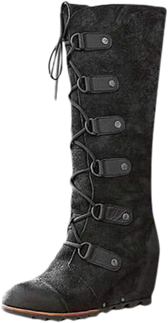 Scarpe Donna Sandali Alti Alla schiava tacco basso stivali estivi con le borchie