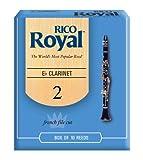 Rico Royal Eb Clarinet Reeds, Strength 2.0, 10-pack