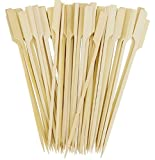 AS 8 Inch 100 Pack / 250 Pack /500 Pack Bamboo Picks Paddle Skewers BBQ Picks (100 Pack)