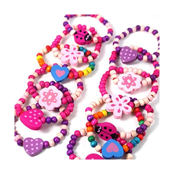 Party Bag Coloured Girls Wooden Necklace Loot Pinata Filler