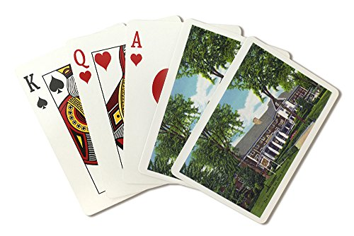Great Barrington, Massachusetts - Exterior View of the Berkshire Inn (Playing Card Deck - 52 Card Poker Size with Jokers)