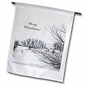 Beverly Turner Christmas Design and Photography - Horses on a Hill in the Winter, Merry Christmas - 12 x 18 inch Garden Flag (fl_62725_1)