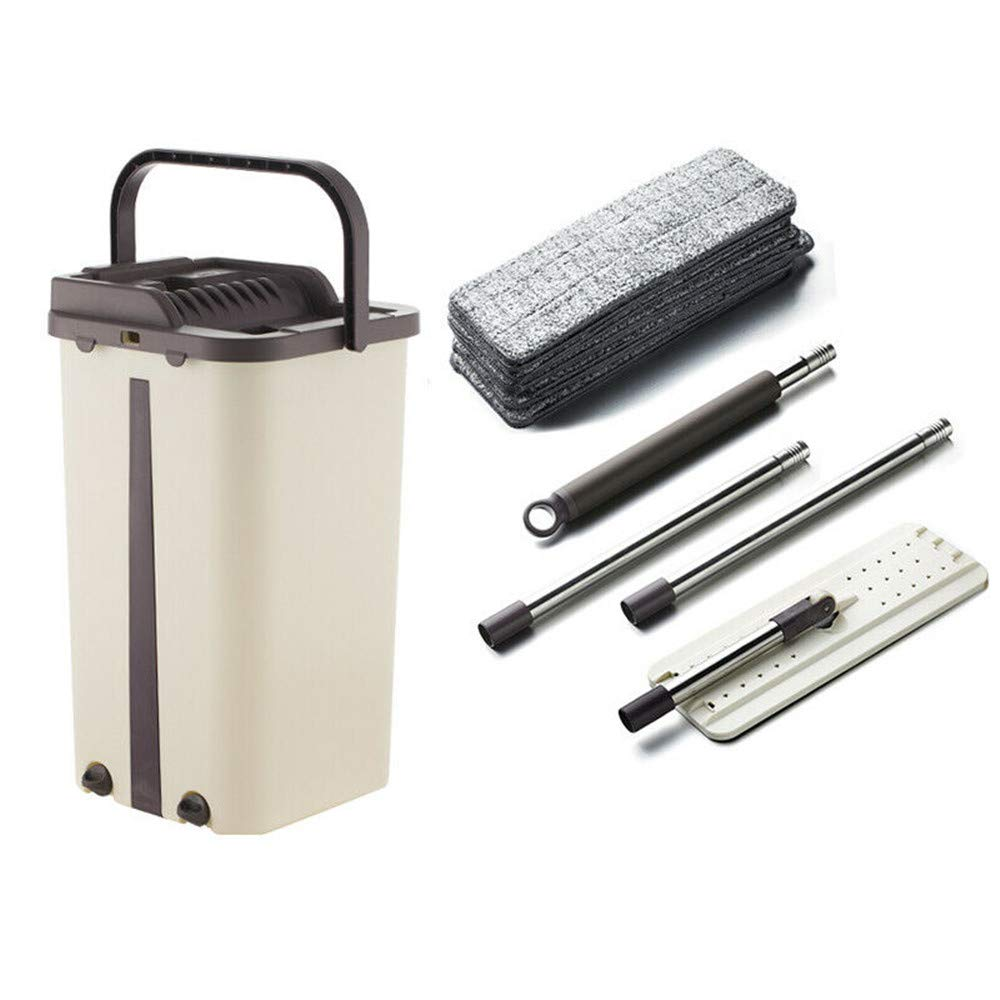 Home Mop and Bucket - Self Cleaning Flat Mop Bucket & 4 Pads by uramircle (Image #7)
