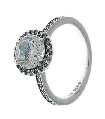 1ab6f12b9cfe6 Amazon.com: PANDORA Classic Elegance Ring, Clear CZ 196250CZ-48 EU ...
